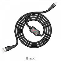 Кабель Hoco S4 Charging data cable with timing display Lightning