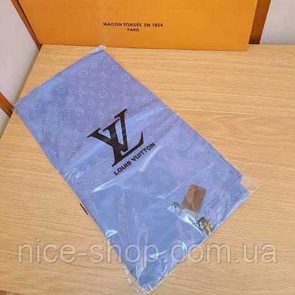 Платок Louis Vuitton шелк голубой васильковый, фото 2