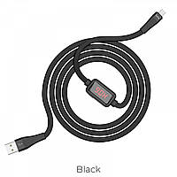 Кабель Hoco S4 Charging data cable with timing display Micro