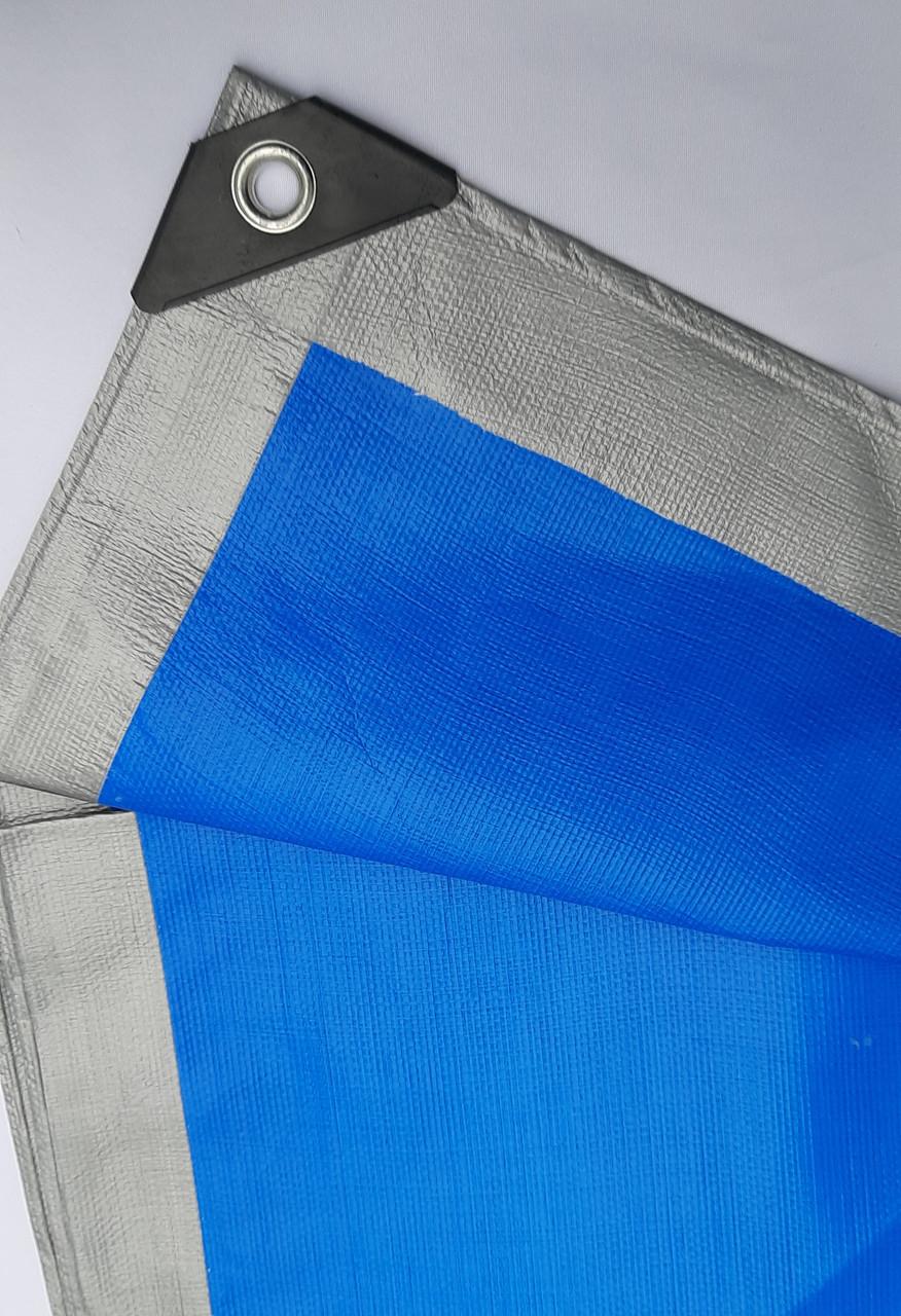 """Тент """"Сіро-синій"""" 4х6м, щільність 180 г/м2"""