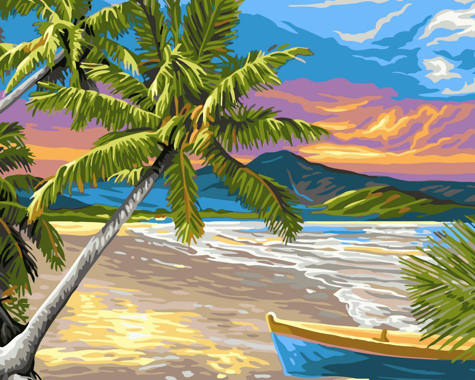 Художественный творческий набор, картина по номерам Необитаемый остров, 50x40 см, «Art Story» (AS0023)