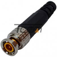 Разъём (штекер) BNC под кабель, с пружиной