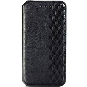 Шкіряний чохол книжка GETMAN Cubic (PU) для Samsung Galaxy A02s / M02s Чорний
