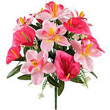 Искусственные цветы букет орхидей и каллы, 40см, фото 2