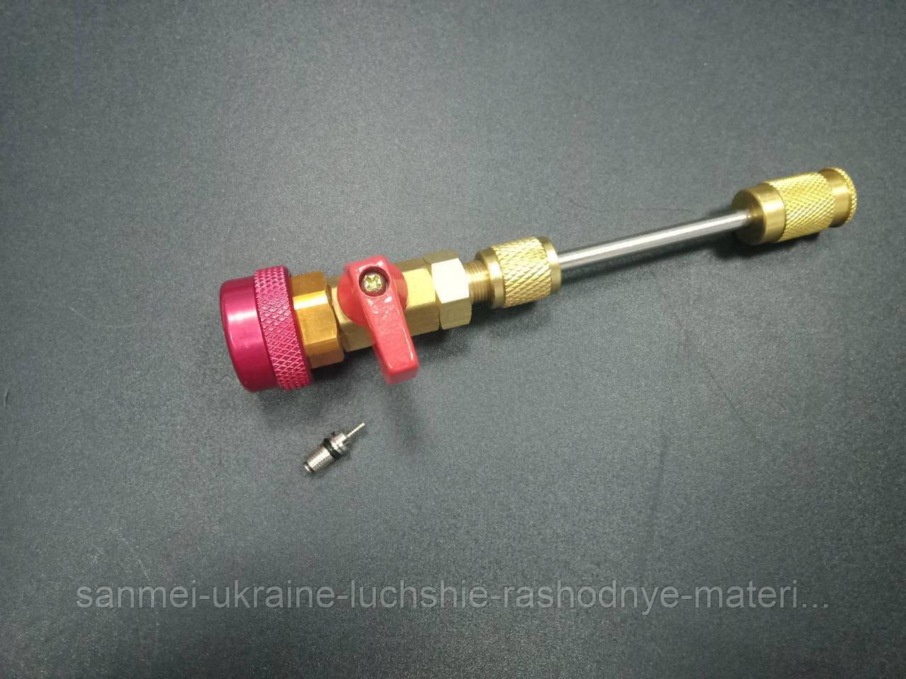 Съемник для замены ниппеля, золотника под высоким давлением