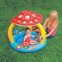 Детский бассейн грибок с надувным дном интекс Intex 102х89см (Intex 57407)