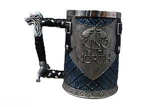 Кружка Чашка Бокал Игра Престолов King in the North Targaryen 3D Король Севера