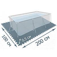 Мат-подложка для бассейна Intex 29084, 200 х 100 см, набор 8 шт (50 x 50 см), толщина 0,5 см