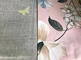 Постільна білизна двоспальное, рожева з сірим (комплекти двоспальний, полуторний, сімейний, євро), фото 2