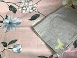 Постільна білизна двоспальное, рожева з сірим (комплекти двоспальний, полуторний, сімейний, євро), фото 3