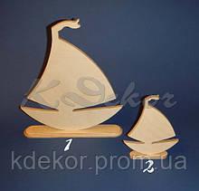 Кораблик  на подставке №1 заготовка для декупажа и декора