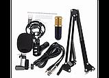 Микрофон конденсаторный Protech BM-800 со звуковой картой V8X pro и пантографом с ветрозащитой, фото 4