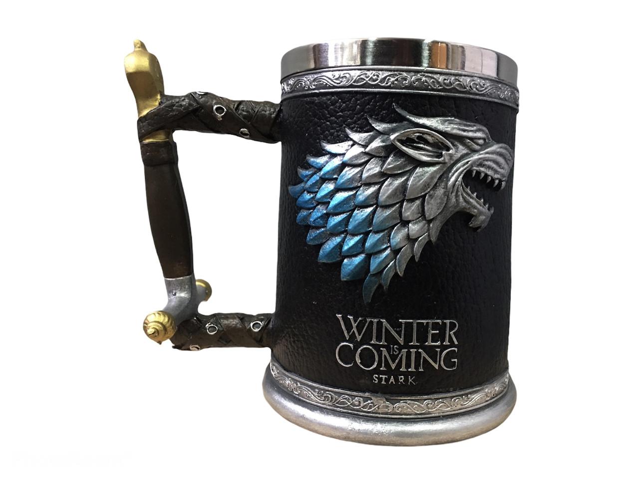 Кружка Чашка Бокал Игра Престолов Winter is Coming Stark Targaryen 3D Дом Старк
