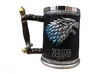 Кружка Чашка Бокал Игра Престолов Winter is Coming Stark Targaryen 3D Дом Старк, фото 1