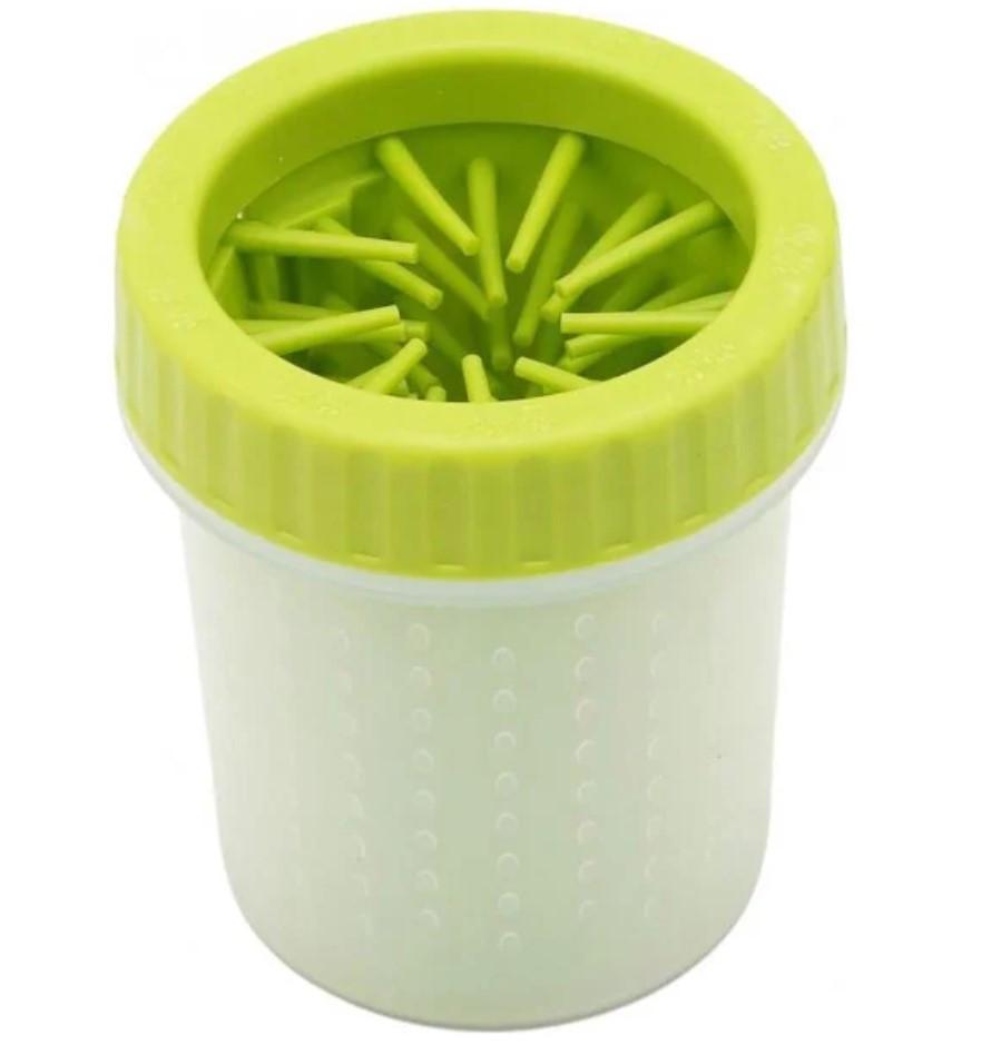 Лапомойка Soft Gentle зеленая | Стакан для мытья лап