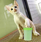 Лапомойка Soft Gentle зеленая | Стакан для мытья лап, фото 9