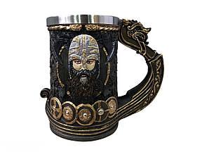 Кружка Чашка Келих Вікінг Воїн Сатана 3D Молот Тора Нержавіюча Сталь