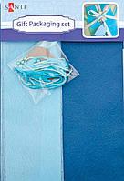 Набор д/упаковки подарка 952057 сине-серый 40х55см.