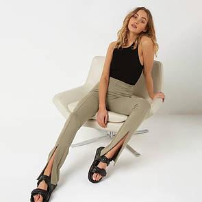 Классические женские брюки с декоративными разрезами на молнии (р. 42-44) 83bu576