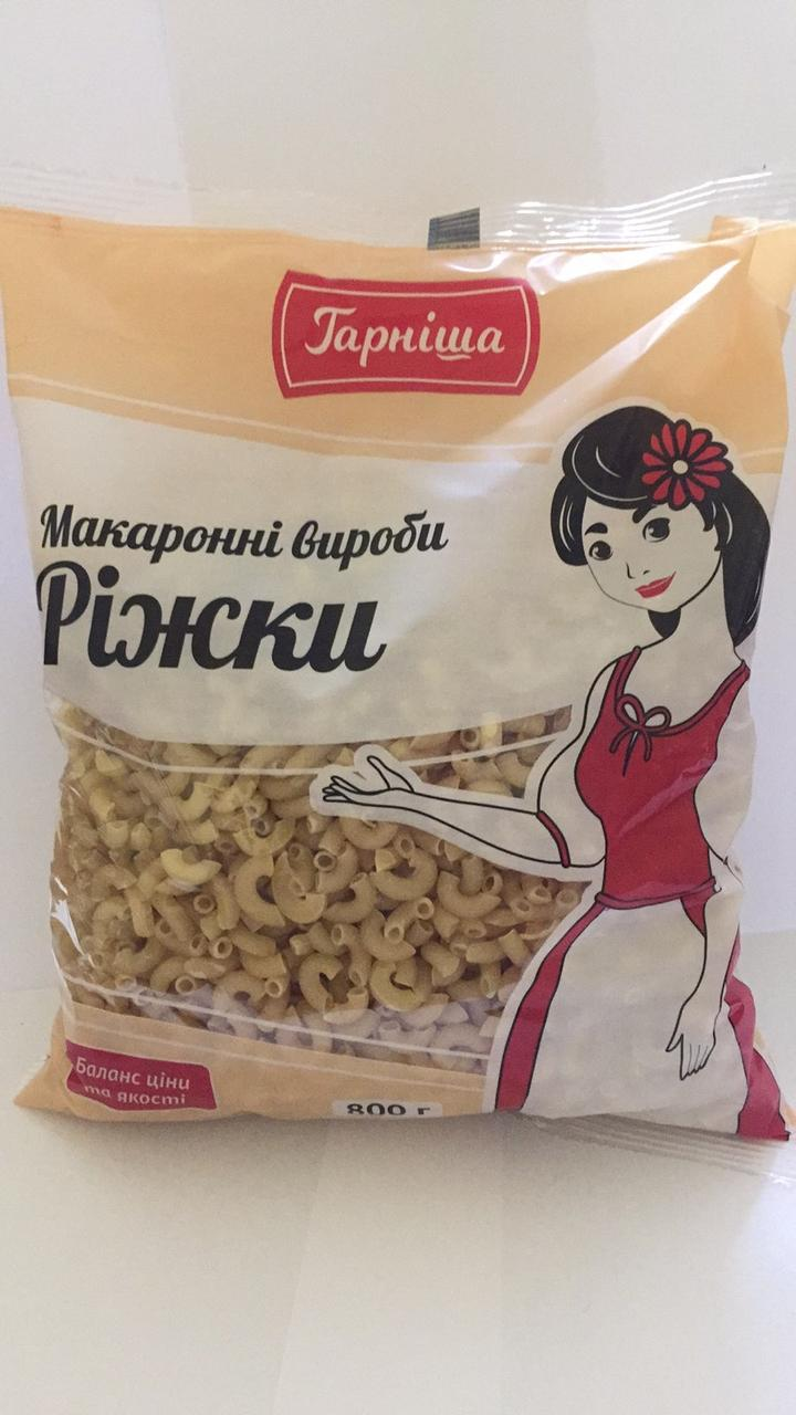 "Макароны ""Рожки"", 0.8 кг, тм ""Наша Крупiночка"""
