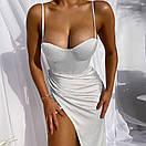 Платье вечернее на бретелях с имитацией запаха и чашками (р. 42-44) 83py2077, фото 5