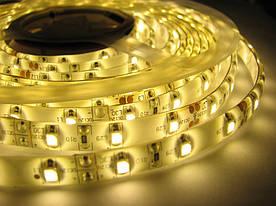 Світлодіодна стрічка в силіконі SMD 2835/60 (IP65) 12V тепло-біла (3000К)