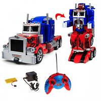 Машинка робот-трансформер на радиоуправлении Оптимус Прайм со световыми и звуковыми эффектами