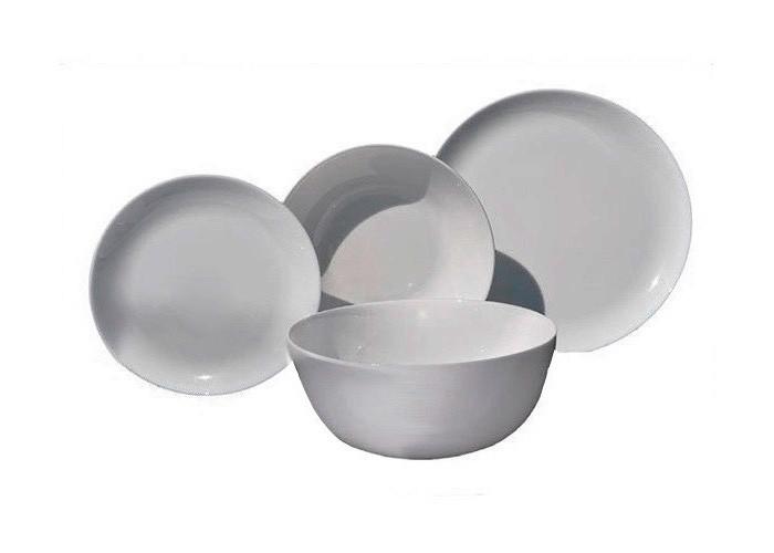 Серый столовый сервиз с салатником Luminarc Diwali Granit 19пр 2920P