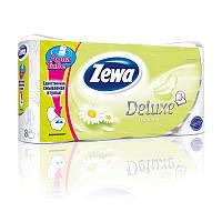 """Туалетная бумага""""ZEWA"""",Deluxe,(трехслойная),с ароматом ромашки,8рулонов."""