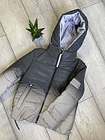 Светоотражающая куртка омбре для девочек, 134-158 рр. Артикул: AN1234 , фото 1