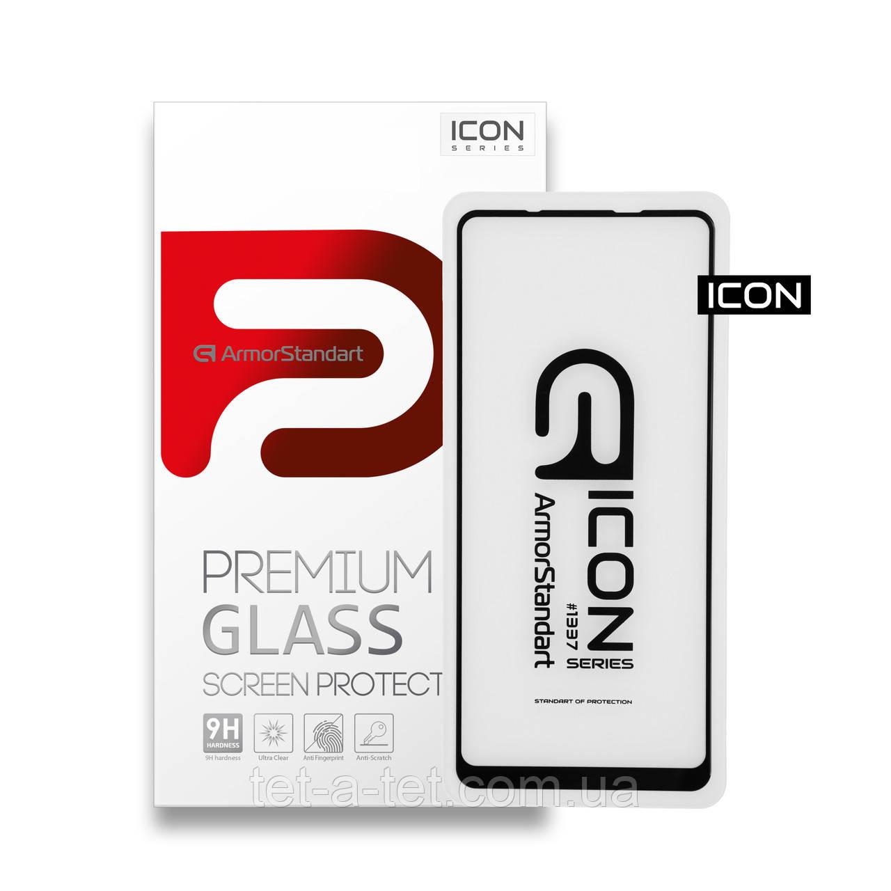 Захисне скло Armorstandart Icon для Samsung A21s Black (premium glass)