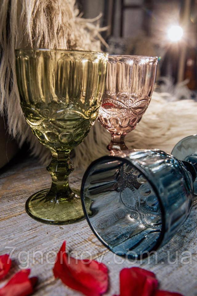 Набор из 6 бокалов из цветного стекла Виктори