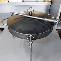 2в1 Сковорода из диска бороны 40см (с крышкой) для пикника