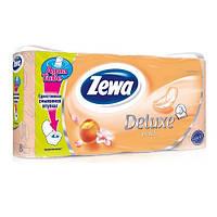 "Туалетная бумага""ZEWA"",трехслойная,(Deluxe peach),с ароматом персика,8рулонов."