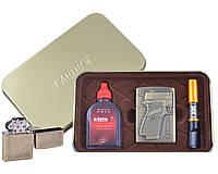 Зажигалка бензиновая в подарочной коробке (Баллончик бензина/Мундштук) Пистолет