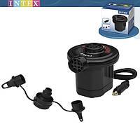 Насос электрический Quick-Fill Electric Pump Intex 66626: 3 насадки, 12 Вольт