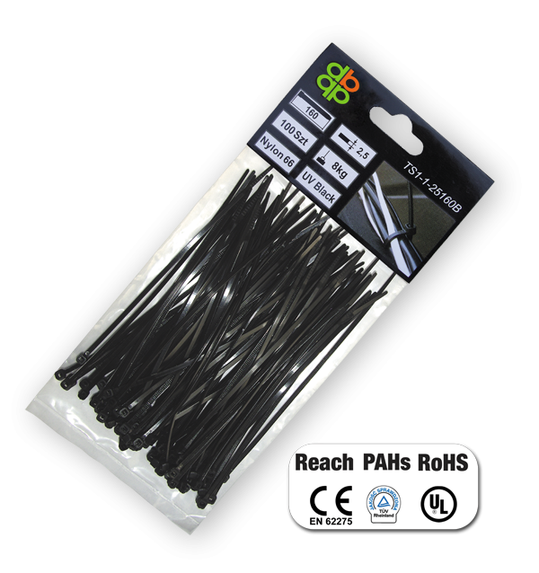 Стяжки кабельные пластиковые, UV, BLACK, 9,0*1220  мм, TS1190122B