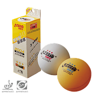 Мячи (шарики) для настольного тенниса DHS 3*: 3 шт. в упаковке