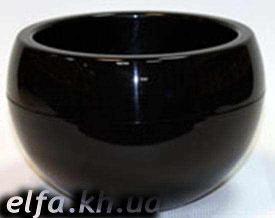 Горшки для цветов черные 98