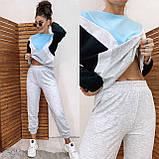 """Яскравий жіночий спортивний костюм """"Геометрія"""" 35-396, фото 6"""