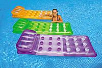 Надувной пляжный матрас шезлонг Intex 58890: 188х71см, 3 цвета