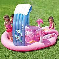 Детский водный игровой центр Hello Kitty Intex с фонтанчиком: 211х163х130 см (Intex 57137)