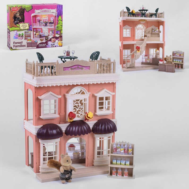 Тематичний ігровий набір будиночок для ляльок Щаслива сім'я SD 881 іграшковий магазин з меблями та продуктами