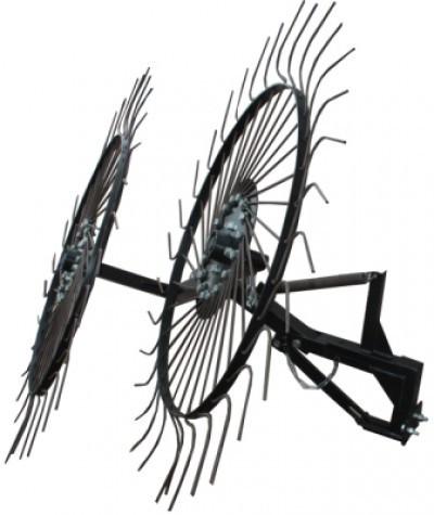 """Граблі-ворушилки сонечко великі тракторні """"Преміум"""" на 3 колеса (1,8 м)"""
