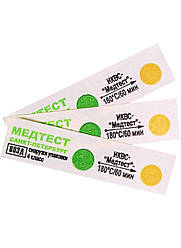 """Индикаторы химические для контроля воздушной стерилизации 180 С/60 мин. """"МЕДТЕС (100шт) 1 лист"""