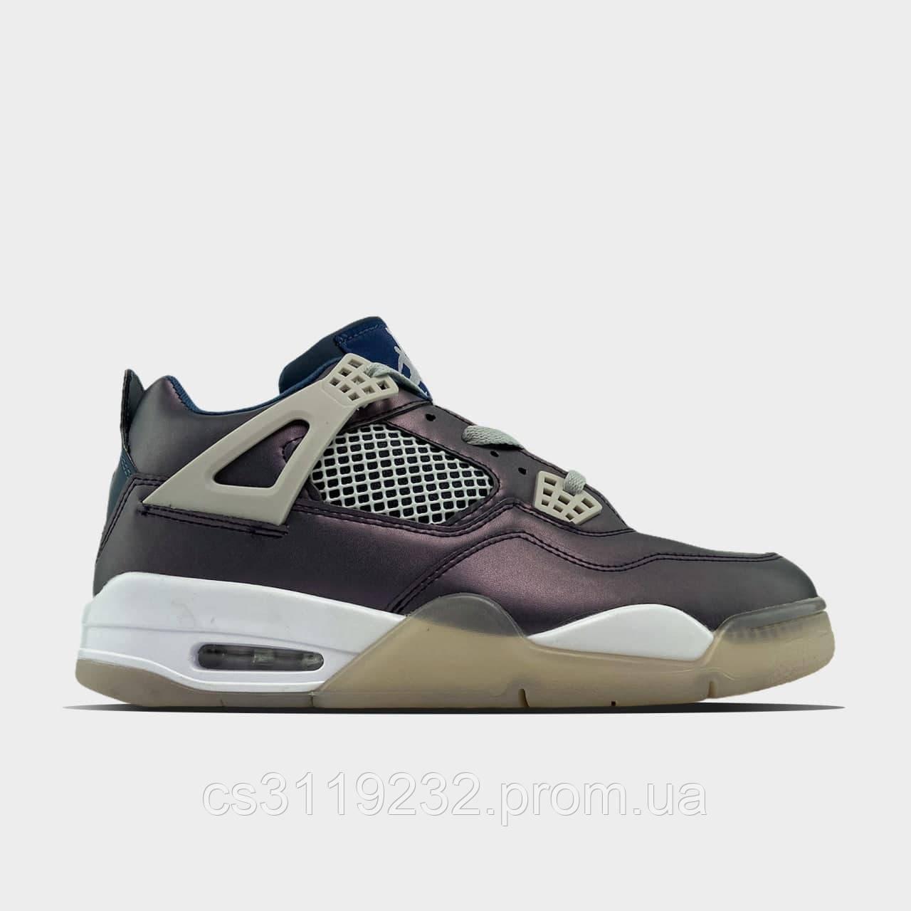 Мужские кроссовки Air Jordan 4 Fossil (серые)