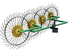 Грабли-ворошилки ГВР-4 ДТЗ с креплением (4 солнышка, тракторные)
