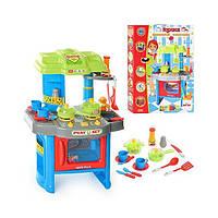 Детская кухня с плитой и вытяжкой 008-26A: 15 аксессуаров, свет/звук эффекты