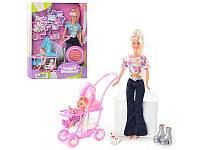 Кукла Defa Lucy с ребенком и коляской 20958: собачка, щенки, аксессуары
