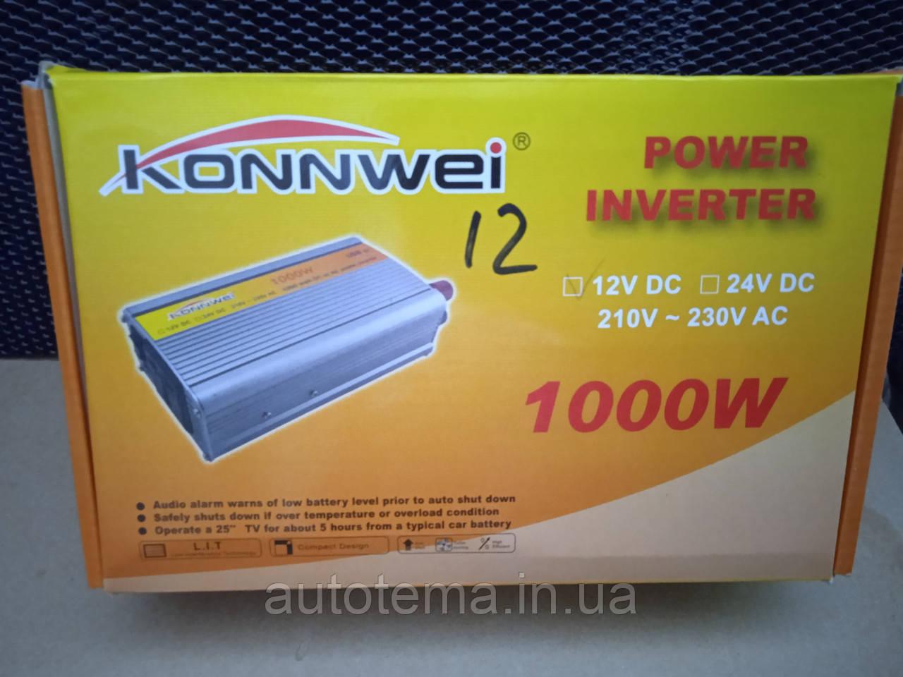 Power inverter 12V-220V 1000W Перетворювач